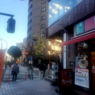 桜川橋北の交差点