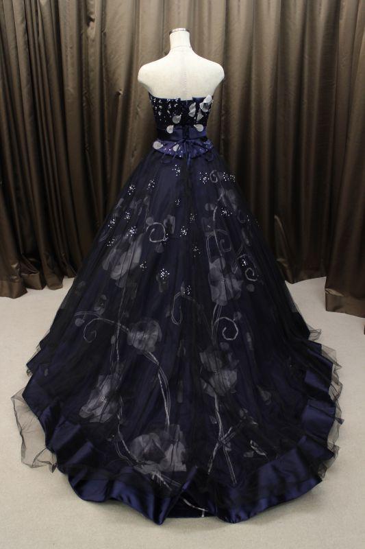カラードレス 紺