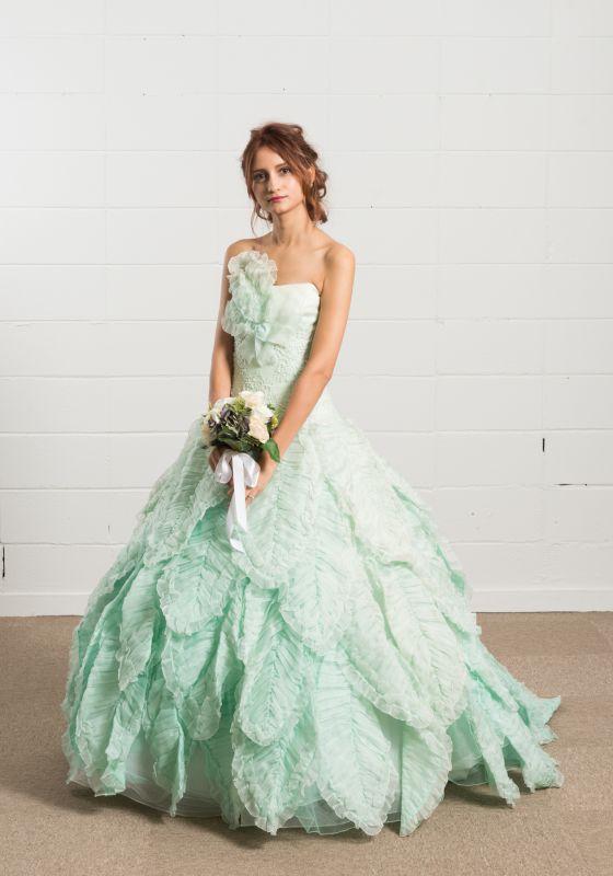 カラードレス ミントグリーン