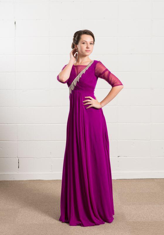 演奏会ドレス 紫