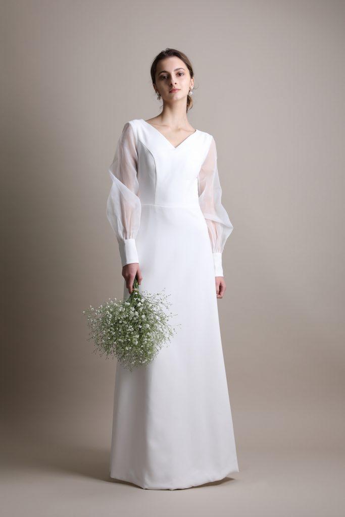ウェディングドレス 人気 長袖