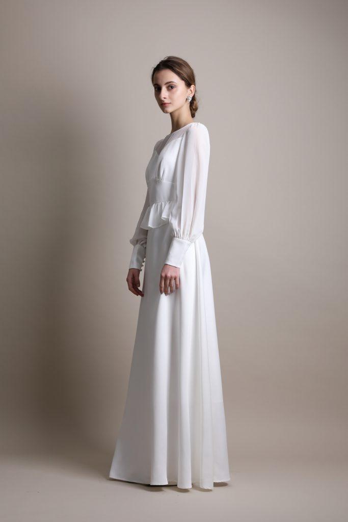ウェディングドレス長袖