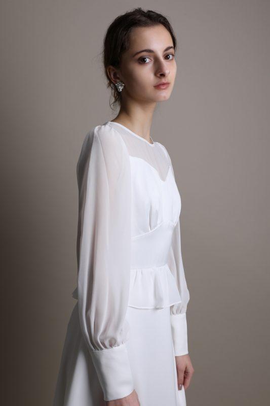 ウェディングドレス 長袖