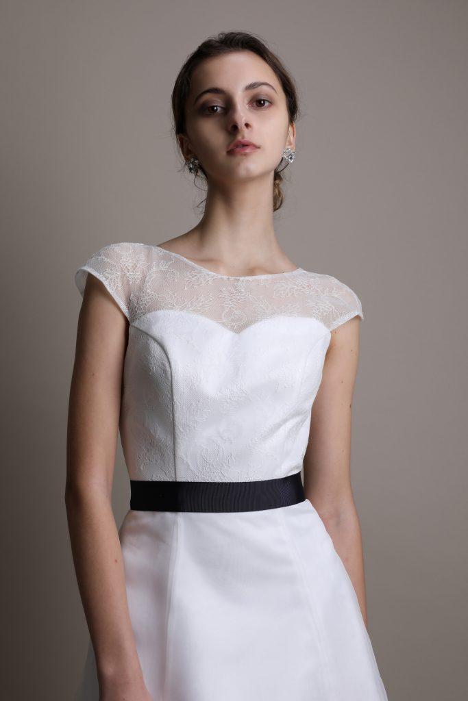 ウェディングドレス フレンチスリーブ